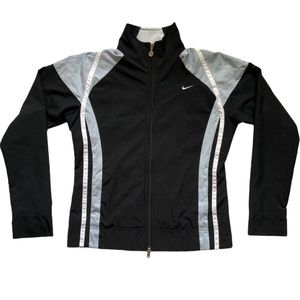Nike Water-Resistant Black Windbreaker Jacket